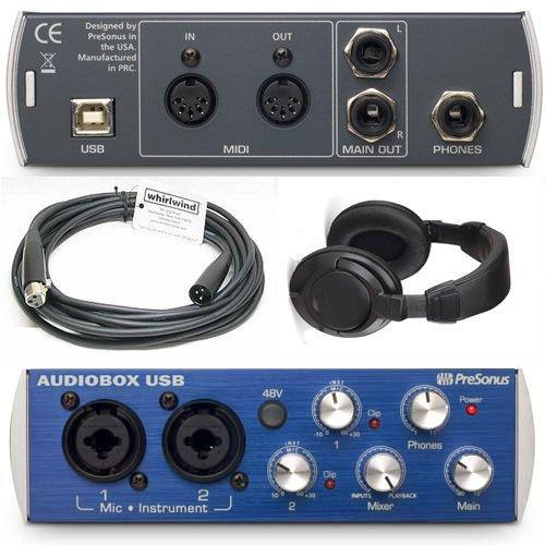 Presonus AudioBox USB 2x2 Interface Bundle with XLR Cable an