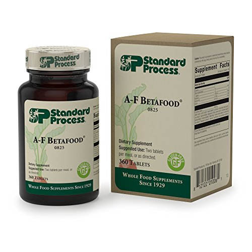 Standard Process - A-F Betafood - Whole Food-Based Gluten Free Digestive Supplement, 1500 IU Vitamin A, Supports Healthy Fat Digestion, Cholesterol Metabolism, and Healthy Bowel Function - 360 Tablets by Standard Process