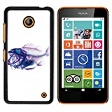 Plastic Shell Protective Case Cover || NOKIA Lumia 630 || Xray Fish Skeleton Art @XPTECH