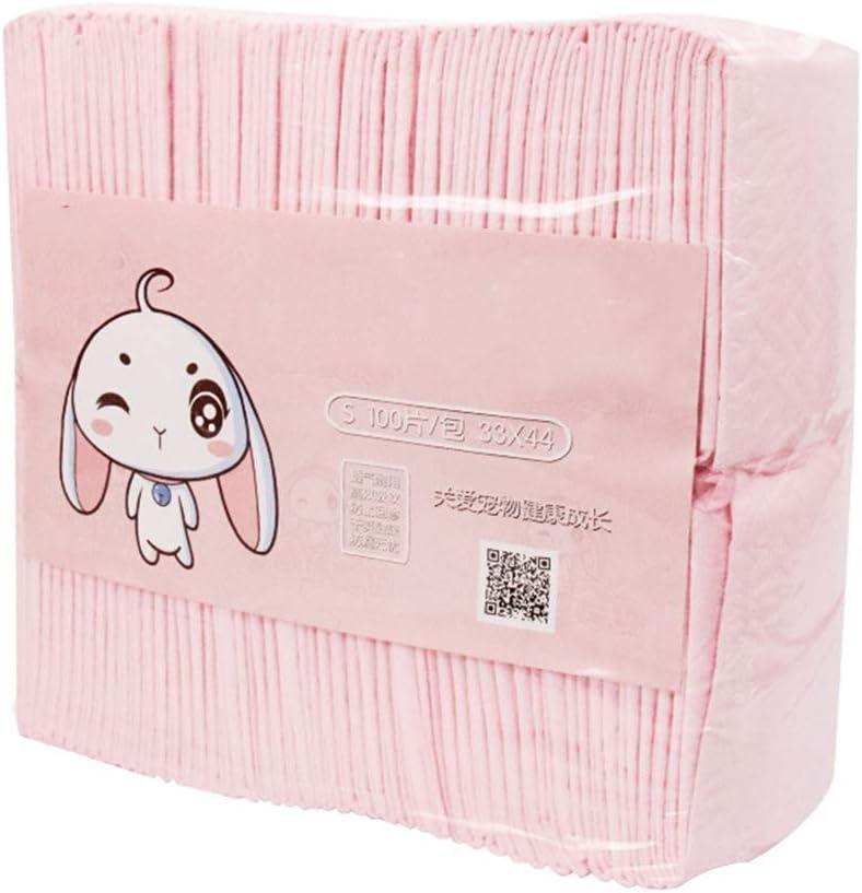 Almohadillas de Entrenamiento para Mascotas Desechables Conejo Pee Pad 100 Hojas Espesar Desodorización Absorción de Agua Perro Pee Mat