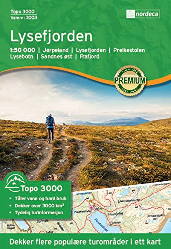 Hiking Map Norway Lysefjorden Topo 3000 1 50 000 Amazon Co Uk