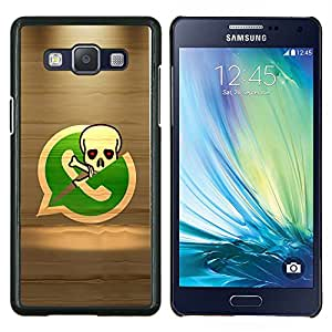 """Be-Star Único Patrón Plástico Duro Fundas Cover Cubre Hard Case Cover Para Samsung Galaxy A5 / SM-A500 ( Esqueleto del pirata Teléfono"""" )"""