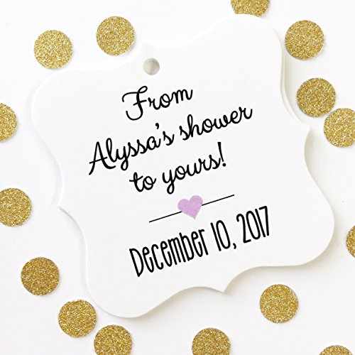 Seeds Favor Shower Baby (From My Shower To Yours Baby or Bridal Shower Favor Hang Tags (FS-067))