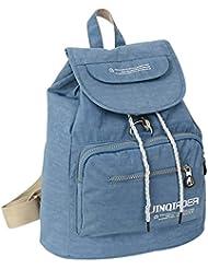 Fansela(TM) Casual Travel Nylon Drawstring Backpack School Bag