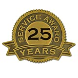 25 years of service pin - PinMart's 25 Years of Service Award Lapel Pin