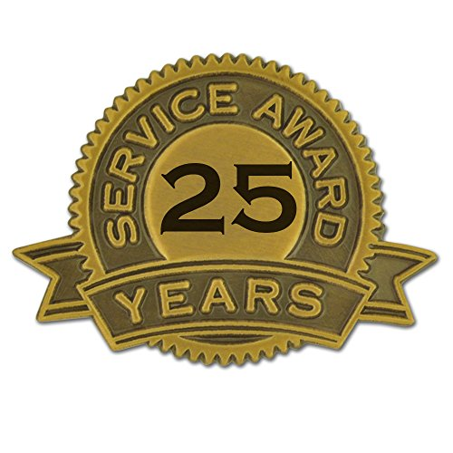 25 years of service pin - 4