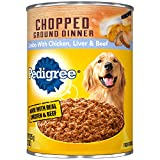 Cheap Pedigree Chopped Ground Dinner Combo with Chicken, Beef & Liver Adult Canned Wet Dog Food, (12) 22 oz. Cans