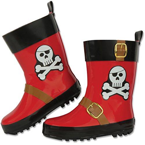 Stephen Joseph Boys' Rain Boots, Pirate,