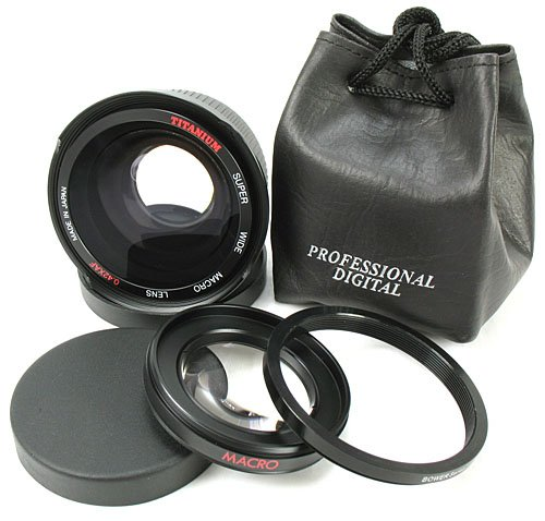 0.42x Fish-Eye /Wide-Angle Converter for Canon XTic XSc XSic T1i dSLR