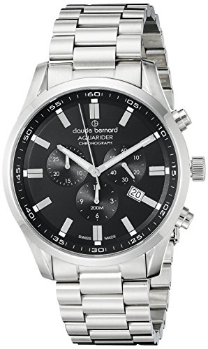 Claude Bernard Men's 10222 3M NV Aquarider Stainless Steel Bracelet Watch
