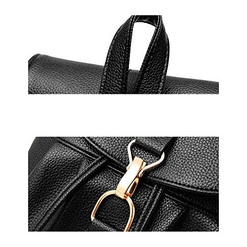 Simple Korean New Women Bag Darkblue Of Xiaolongy Black Fashion Shoulder Bag Handbag Female Women Korean Wave zwqnUH78nx