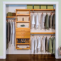 John Louis Home Premier Honey Maple 3-drawer Closet Organizer