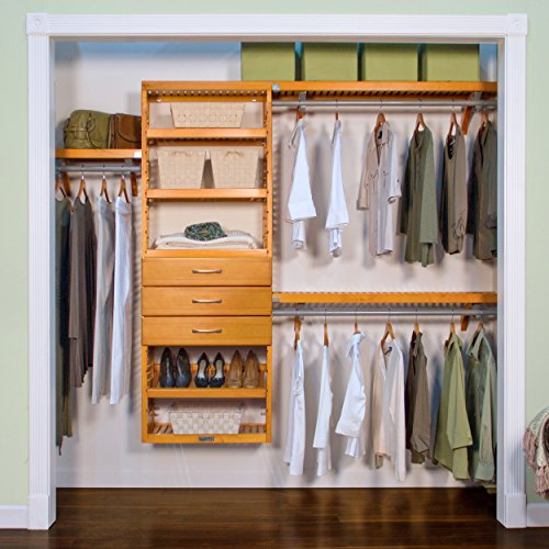 John Louis Home Premier Honey Maple 3-drawer Closet Organizer