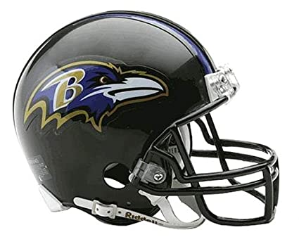 7ba18fc559dec Riddell NFL Baltimore Ravens Replica Mini Football Helmet  Amazon ...
