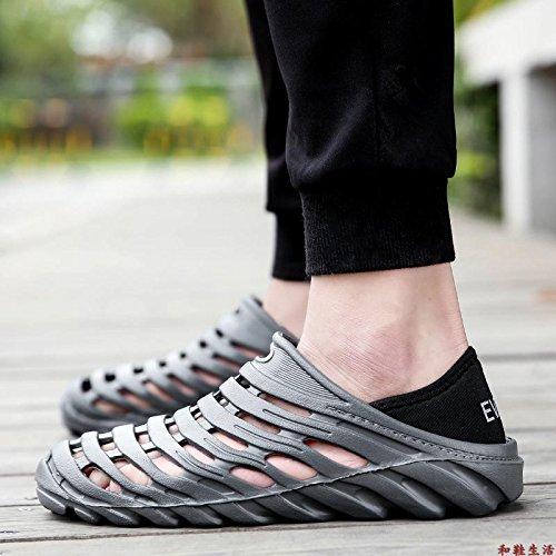 Xing Lin Flip Flop De La Playa Deportes Nuevos Hombres De La Segunda Generación De Calzado De Playa El Agujero Zapatos Zapatos De Hombre Summer Light Antideslizante Zapatillas Sandalias De Gran Tamaño Gray three generations