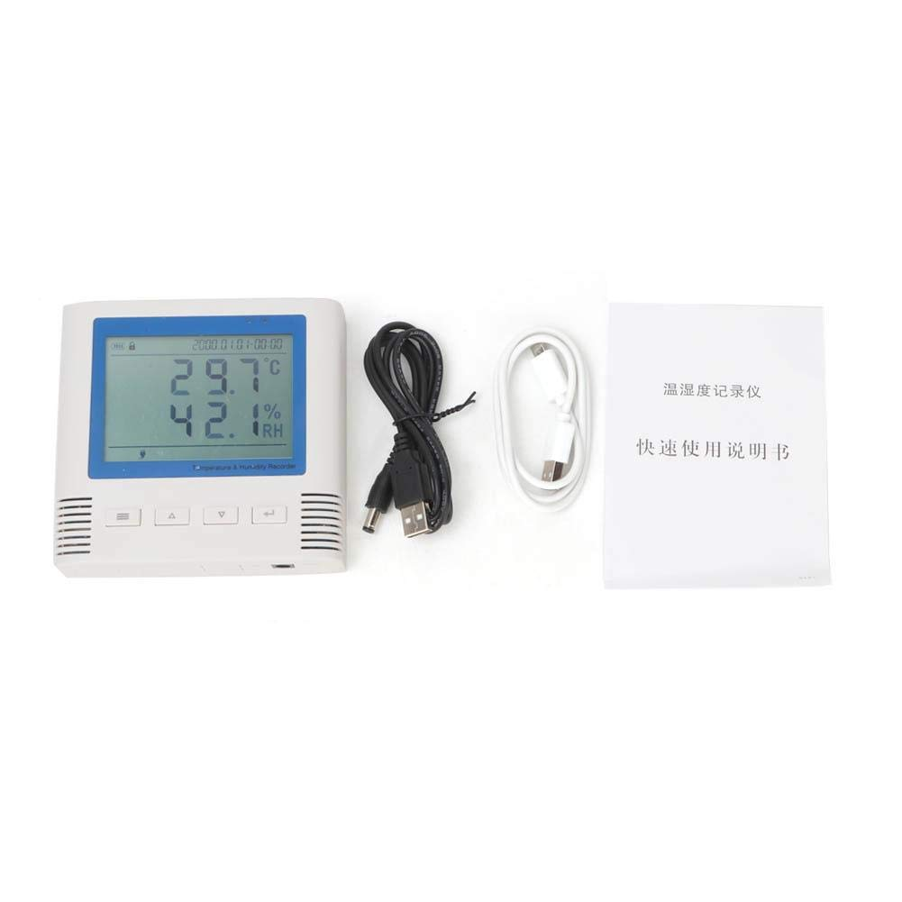 Temperature Recorder Thermometers, LCD Display Temperature Humidity Recorder USB Large Screen Wide Viewing Angle for Home Warehouse Workshop Indoor use by Taidda