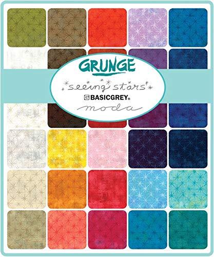 BasicGrey Grunge Seeing Stars 40 Fat Quarters Moda Fabrics 30148AB by MODA (Image #1)