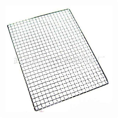 Personalised Engraved Square - 1Pcs 40Cm X 25Cm Metal Squares Holes Grill Barbecue Wire Mesh Barbecue Tool Nonstick Stainless Steel Grilling Wire Mesh Oven