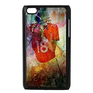 Yearinspace Peyton Manning Mixed Art Pictures and Posters Ipod Touch 4 Cases, Non Slip Case for Ipod Touch 4 {Black}