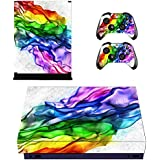 FOTTCZ Whole Body Vinyl Skin Sticker Decal Cover for Microsoft Xbox One Console and Controller Galaxy