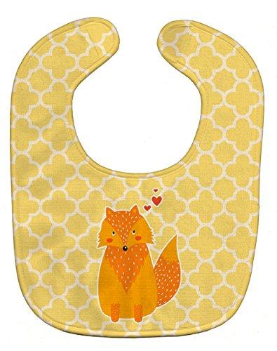 Caroline's Treasures Baby Bib, Foxy Love, (Yellow Baby Bib)