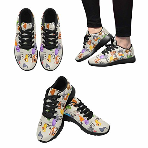 Scarpe Da Corsa Trail Running Da Donna Jogging Leggero Sportivo A Piedi Sneakers Atletiche Personaggi Divertenti, Alfabeto Per Bambini Multi 1