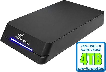 Avolusion HDDGear Pro - Disco Duro Externo para Juegos (4 TB, 4000 GB, 7200 RPM, caché de 64 MB, USB 3.0, diseñado para PS4 Pro, Delgado, Original): Amazon.es: Electrónica