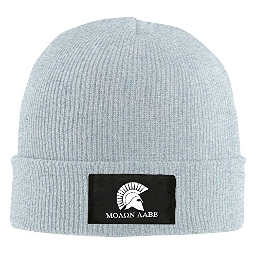 Molon hombres negro y sombrero Ceniza casco Beanie Labe mujeres para rxcCwr17Xq