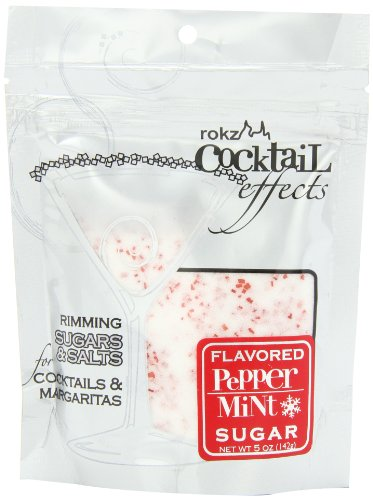 Rokz Design Group Cocktail Sugar, Peppermint, 5 Ounce