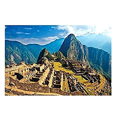 Haluoo 1000 Pieces Jigsaw Puzzles for Adult Famous Architecture Landscape Puzzles Floor Puzzles Leisure Time Entertainment Decompression Game DIY Toy Decorative Pictures for Wall-Machu Picchu: Toys & Games
