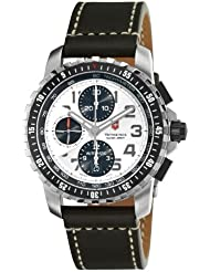 Victorinox Swiss Army Mens 241450 Alpnach Silver Chronograph Dial Watch Watch