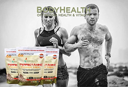 BodyHealth PerfectAmino Complete Meal Replacement 100% Organic, Protein Powder Oil, Nutrition, Weight Loss & Health,