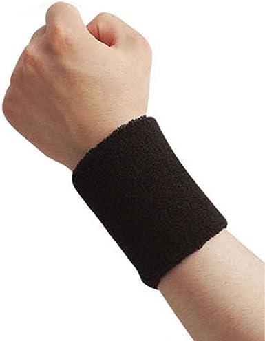 1pcs Elastic Zipper Sports Wristband Gym Fitness Wrist Strap Bracer Sweatband UK