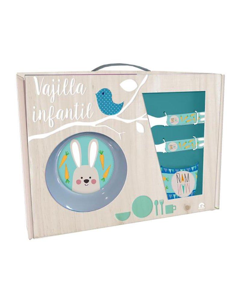 BAGGY Set Desayuno melamina Conejito 5pz Color Talla Fabricante AST0456