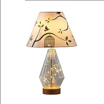 Lampe de chevet en verre pour chambre à coucher Lampe de