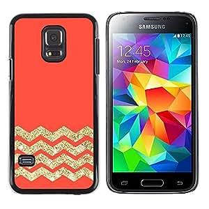 iKiki Tech / Estuche rígido - Orange Zig Zag Pattern - Samsung Galaxy S5 Mini, SM-G800, NOT S5 REGULAR!