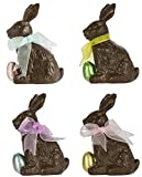 Darice 415-212 Small Polyresin Chocolate Style Easter Bunny With Egg Ornament Decoration (Pack of 4, Equally Assorted)