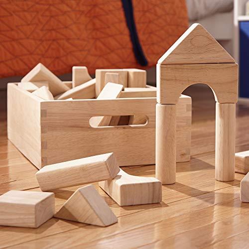 "512NTSnVelL - Melissa & Doug Standard Unit Solid-Wood Building Blocks with Wooden Storage Tray, Developmental Toy, 60 pieces, 5.25"" H x 12.5"" W x 15"" L"