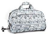 J World New York Christy Rolling Duffel Bag, Blinker White, One Size