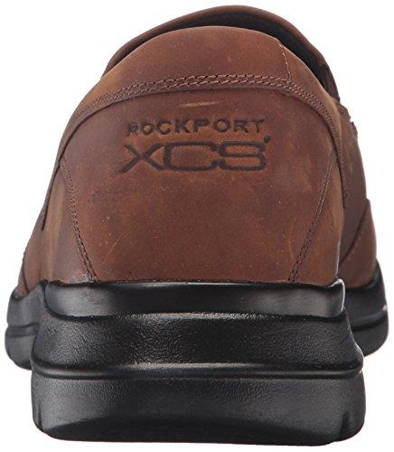 Rockport Mens City Gioca A Due Slip On Oxford Dark Tan