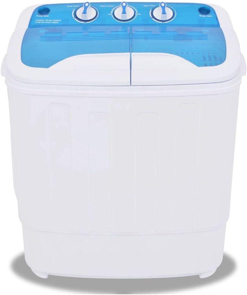 Cikonielf Mini lavadora manual – Pequeño lavadora portátil con manguera de vaciado – Compacto y ecológico – Para dormitorios de camping y viajes – 57,5 x 34 x 65 cm