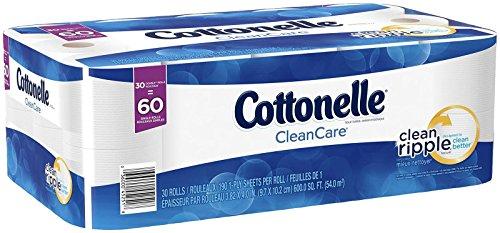 Cottonelle Clean Care Double Roll Bath Tissue, 30 Count