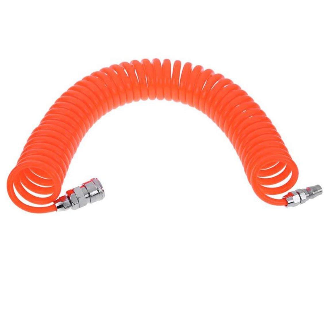 Mazur Outil d'air flexible de tube d'air de compresseur de tuyau de compresseur d'air de polyuréthane de mètre de l'unité centrale 8x12mm de bleu de 10m avec le connecteur (bleu)