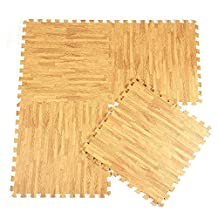 XDOBO Luxurious Interlocking Foam Anti Fatigue 12'' X 12'' Flooring Tiles, Pack of 10 - Approx 10 Sq.ft
