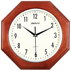 Maple's 13.5-Inch Wooden Octagonal Wall Clock
