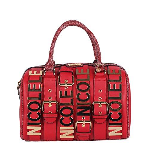 nicole-lee-hilliard-belt-embellished-handbag-red