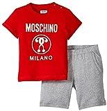 Moschino Short Sleeve T-Shirt and Bermuda Short Set Col. 2, Red, 2 Years