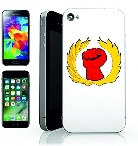 Smartphone Case Pugno di unione di guanto di felice di giorno di lavoro di lavoratori della Rivoluzione di pugno di Conflitto di simbolo per Apple Iphone 4/4S, 5/5S, 5C, 6/6S, 7& Samsung Galaxy S4