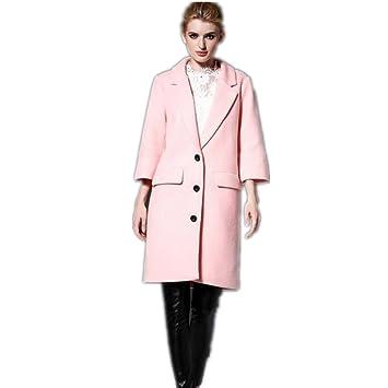XYLUCKY Trompetenärmel Mode Damen Mäntel Frauen Wolle Wolle