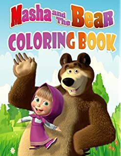 Masha And The Bear Coloring Book Great Pages For Kids Ages 3